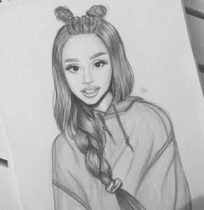Popular Ariana Grande Pencil Drawing Tutorial Art Belongs To @marlysophie On Instagram #arianagrande   This Is My Photos