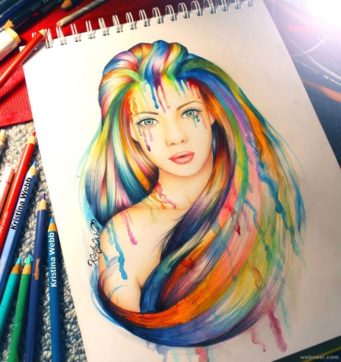 Popular Beautiful Colour Pencil Drawings for Beginners 50 Beautiful Color Pencil Drawings From Top Artists Around The World Pic