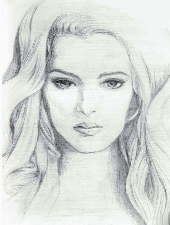 Popular Beautiful Girl Face Sketch Step by Step Pin By Beverly Foster On Drawings | Pencil Sketches Of Faces Picture