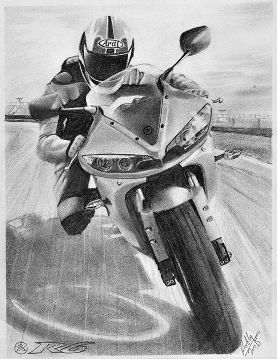 Popular Bike Pencil Drawing Step by Step Yamaha R6 Bike Pencil Drawing - Be Still Studio Perth - Photography Photos