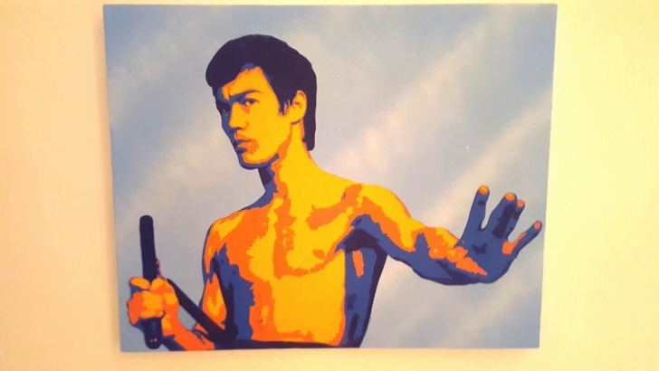 Popular Bruce Lee Stencil Art for Beginners Bruce Lee Stencil Art: With Music Pic
