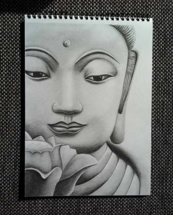 Popular Buddha Pencil Drawing Lessons Lord Buddha – Pencil Sketches   Buddha   Buddha Drawing, Pencil Pics