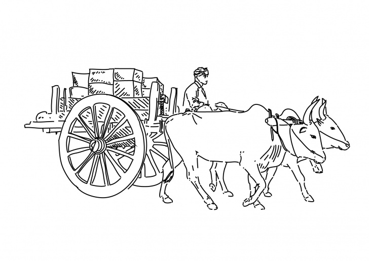 Popular Bullock Cart Pencil Drawing Easy Cart Drawing At Paintingvalley | Explore Collection Of Cart Drawing Photo