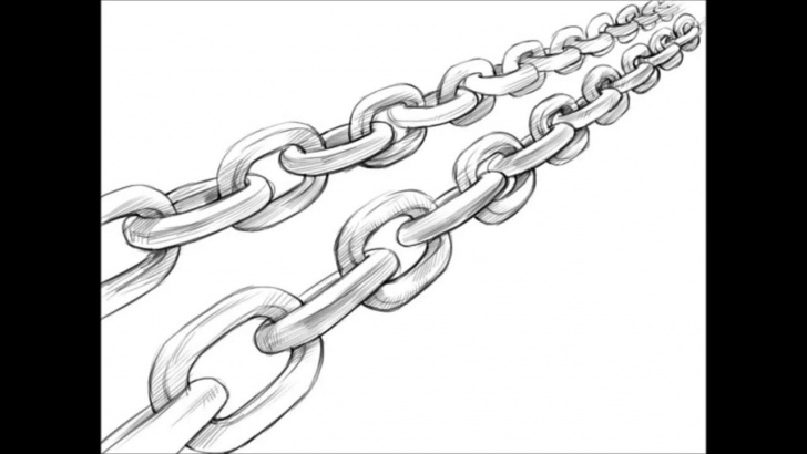 Popular Chain Pencil Drawing Lessons Chain Drawing At Paintingvalley | Explore Collection Of Chain Image
