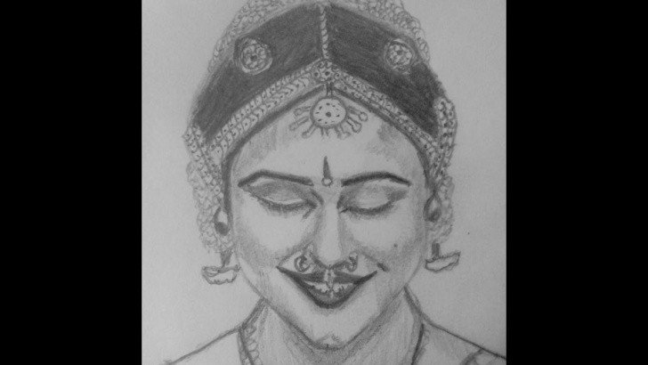 Popular Classical Dance Pencil Drawing Techniques Pencil Sketch/pencil Drawing/pencil Portrait Of Indian Classical Dance Photo