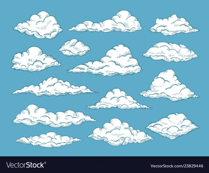Popular Cloud Pencil Drawing for Beginners Hand Drawn Clouds Pencil Sketch Sky Cloudscape Photos
