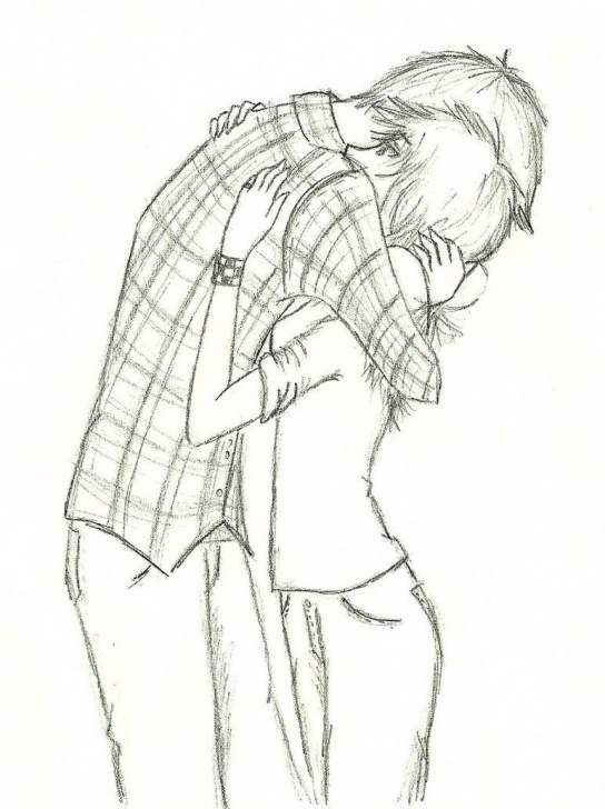 Popular Couple Hug Sketch Tutorials Couple Hugs Drawing - Google Search | Love | Anime Couples Drawings Pics