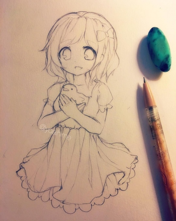 Popular Cute Anime Drawings In Pencil Techniques Nice Pencil Drawing   [ Art I Have Drawn ]   Dibujos De Anime Picture
