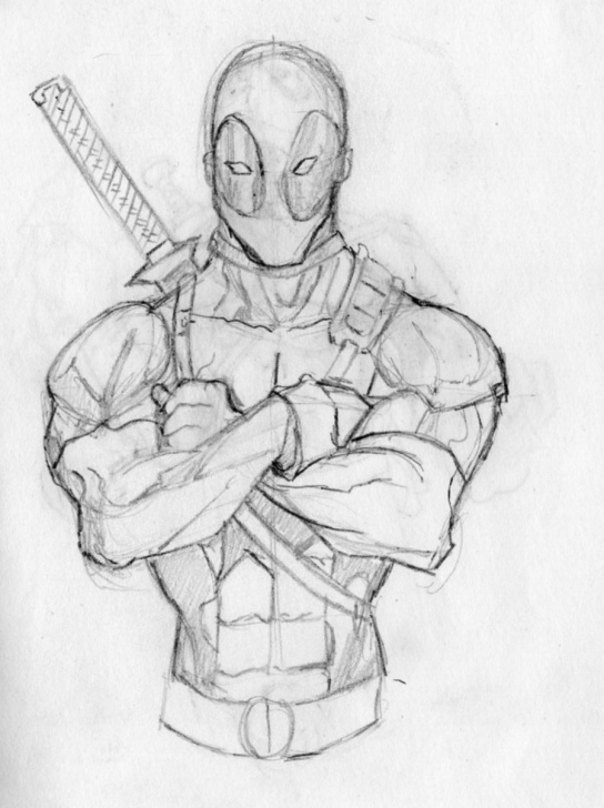 Popular Deadpool Pencil Sketch Techniques for Beginners Deadpool Sketch At Paintingvalley | Explore Collection Of Pic