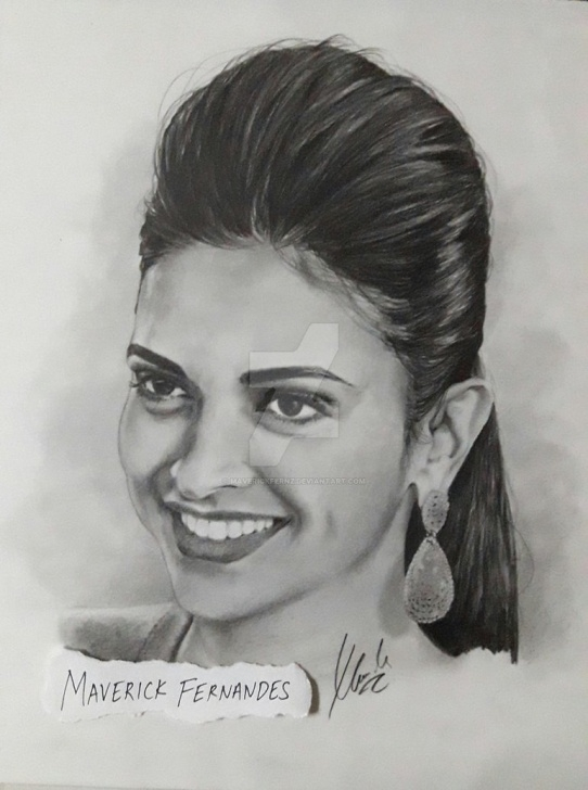 Popular Deepika Padukone Pencil Drawing Ideas Deepika Padukone By Maverickfernz On Deviantart Pictures