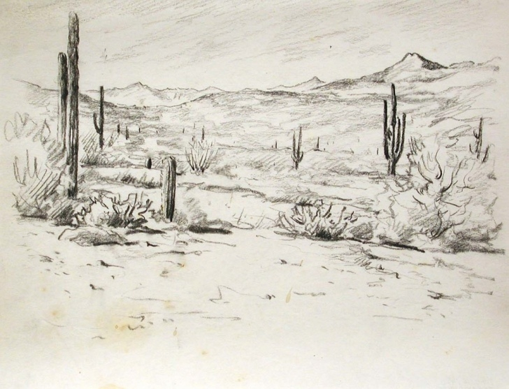 Popular Desert Pencil Drawing Easy Desert Landscape Pencil Drawing And Desert Landscape Drawing Desert Pics