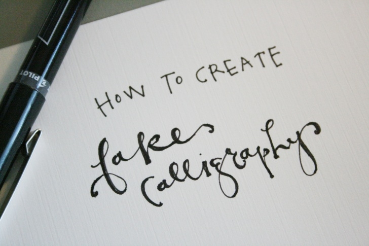 Popular Easy Calligraphy With Pencil Free How To Create Fake Calligraphy (Tutorial + Practice Worksheets) Photo