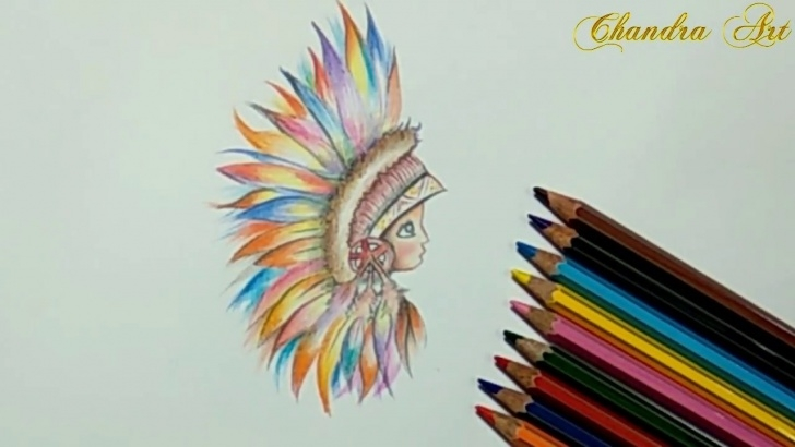 Popular Easy Colored Pencil Drawings Techniques for Beginners Color Pencil Drawing An Abstract Face #easy Pictures