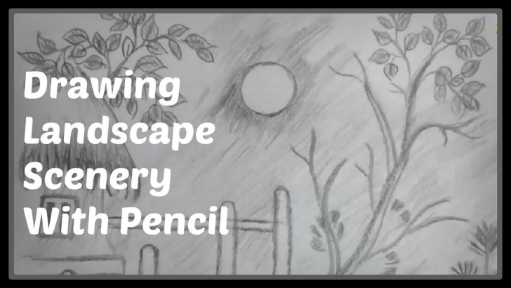 Popular Easy Pencil Shading Drawings Lessons Easy Pencil Shading Drawings: Watch Easy Landscape Drawing A Scenery With  Pencil #2 Images