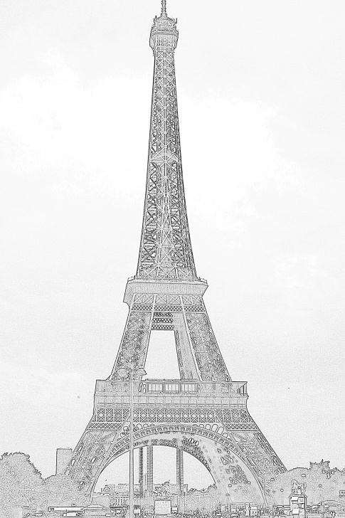 Popular Eiffel Tower Pencil Drawing Easy Pencil Sketch Eiffel Tower And American Mom In Bordeaux: The Pictures