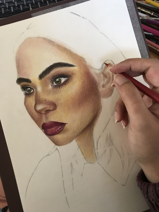 Popular Faber Castell Polychromos Drawing Courses Panpastels And Faber Castell Polychromos Pencils Portrait Drawing Images
