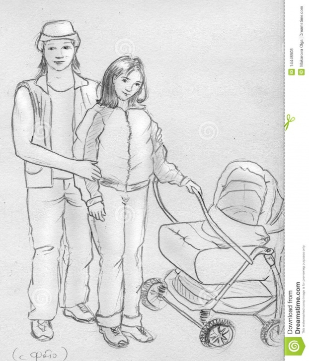 Popular Family Sketches With Pencil Simple Young Family - Sketch Stock Illustration. Illustration Of Wife Photos