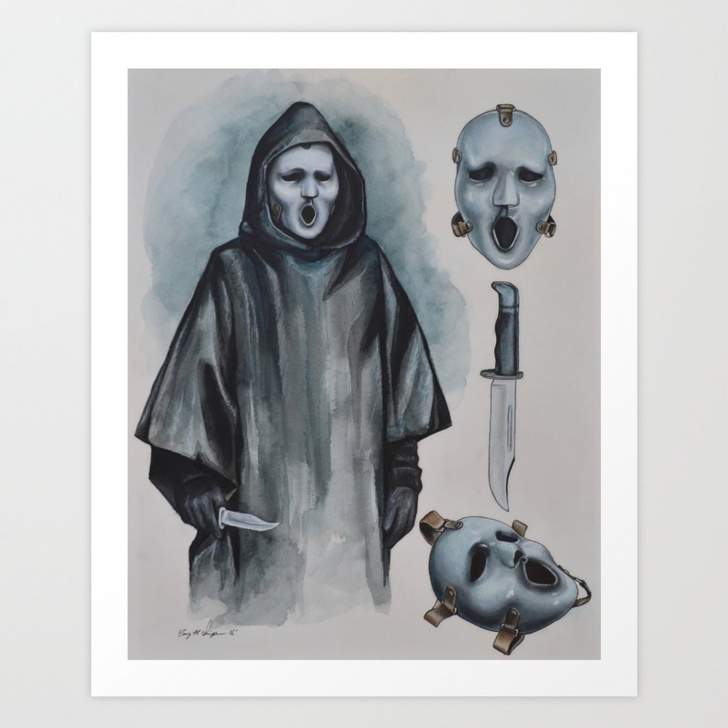 """Popular Ghost Pencil Drawing Tutorials Scream The Tv Series - """"brandon James Mask"""" Ghost Face 