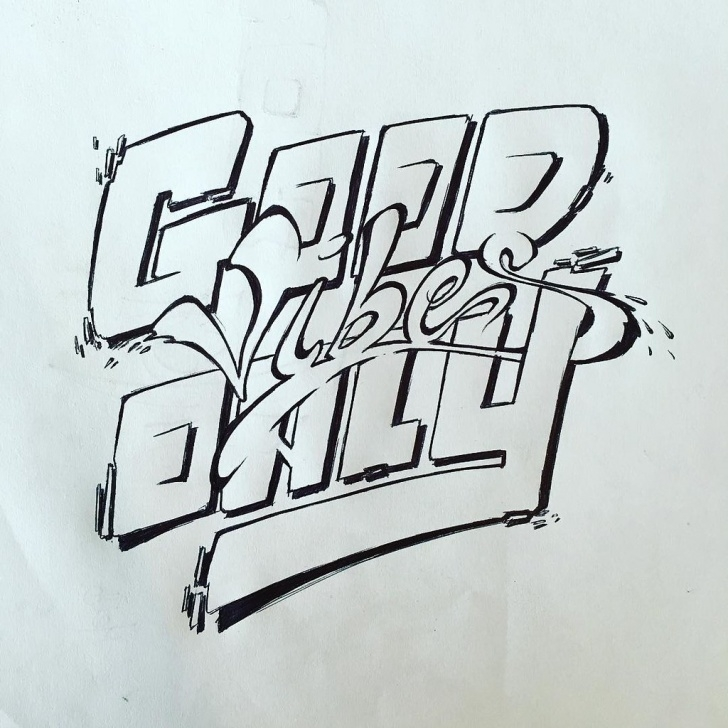 Popular Graffiti Art Pencil Courses Good Vibes Only. 15 Min Sketch // Pencil - Bic Pen - #aske… | Flickr Image