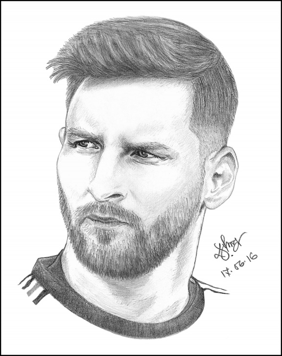 Popular Great Pencil Drawings Simple Messi A Great Pencil Drawing : Drawing Pic