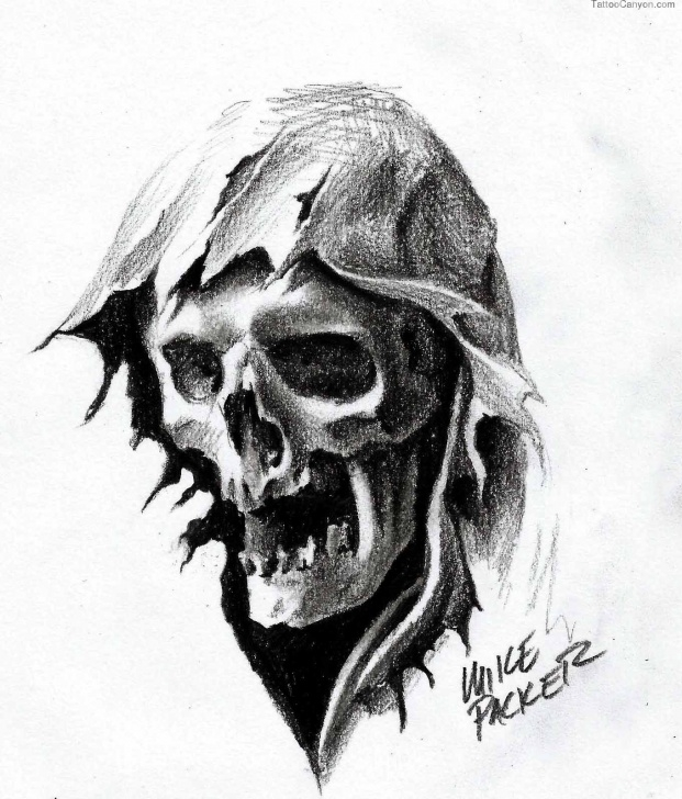 Popular Grim Reaper Drawings In Pencil Step by Step Grim Reaper Pencil Drawing | Tattoos | Grim Reaper Tattoo, Reaper Images