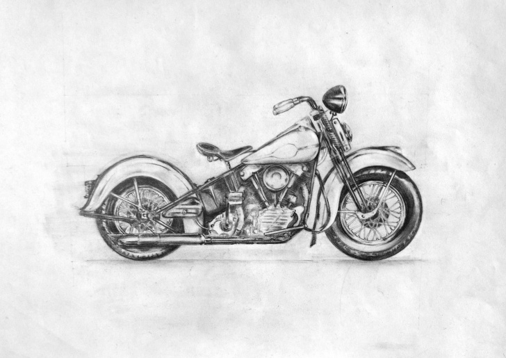 Popular Harley Davidson Pencil Drawings Easy 1947 Harley Davidson Knucklehead Various Pencils On A3 Paper Photo