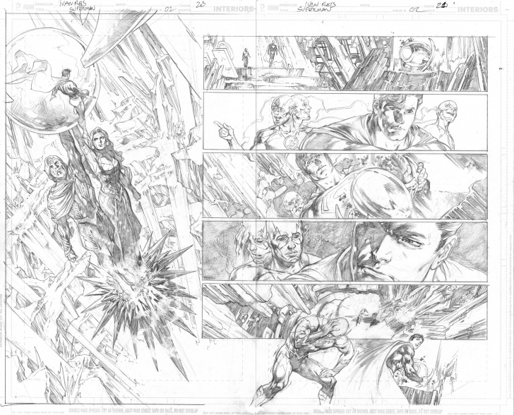 Popular Ivan Reis Pencils Easy Superman (2018) 2 Page 20 - 21 - Ivan Reis - Pencils Only, In Image