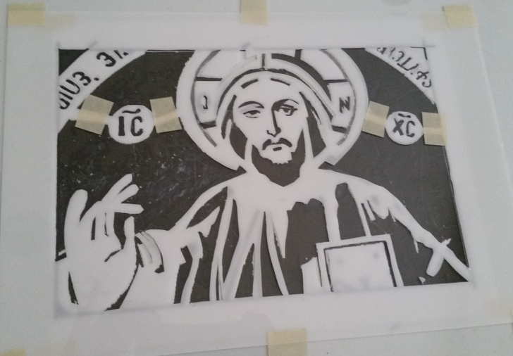 Popular Jesus Stencil Art Techniques for Beginners Stencil Art (Pochoir) By Judy Simon: An Iconic Jesus Christ Photos