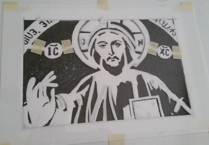 Popular Jesus Stencil Art Techniques for Beginners Stencil Art (Pochoir) By Judy Simon: An Iconic Jesus Christ Photos