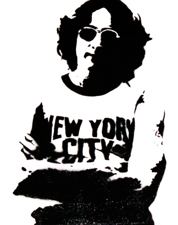 Popular John Lennon Stencil Art Tutorials John Lennon Stencil | Sotx So Tx | Flickr Images