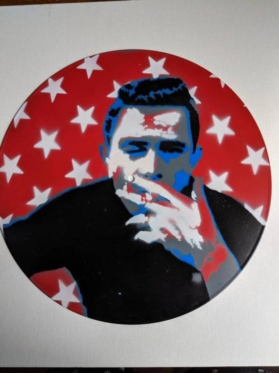 Popular Johnny Cash Stencil Art Easy Johnny Cash Spray Paint Stencil Art On Vinyl Photos