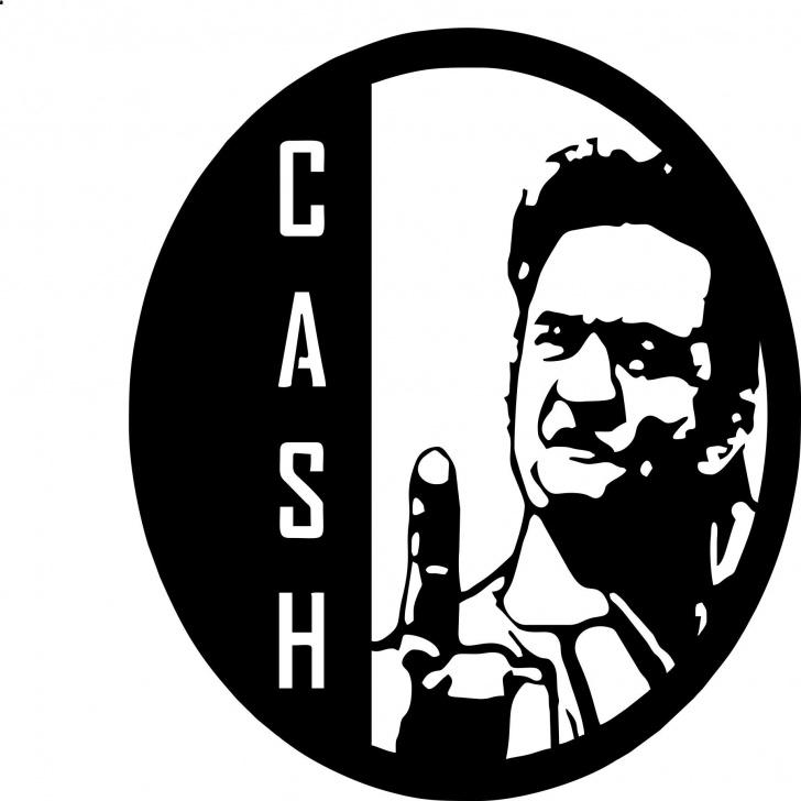 Popular Johnny Cash Stencil Art Lessons Johnny Cash-4 Laser Cut Vinyl Record Artist Representation | Cricut Images