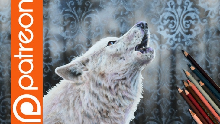 Popular Lachri Fine Art Colored Pencil Free Patreon - Wolf Colored Pencil Lesson - Lachri Fine Art Picture