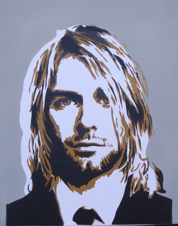 Popular Multi Layer Stencil Art Techniques Multi Layer Stencil Paint - Google-Søk | Nirvana Art | Kurt Cobain Pic
