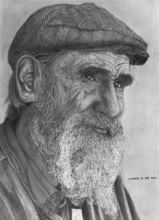 Popular Old Man Drawing Pencil Step by Step Old Man Pencil Portrait (Reupload) By Chong-Yi On Deviantart | Crazy Photos