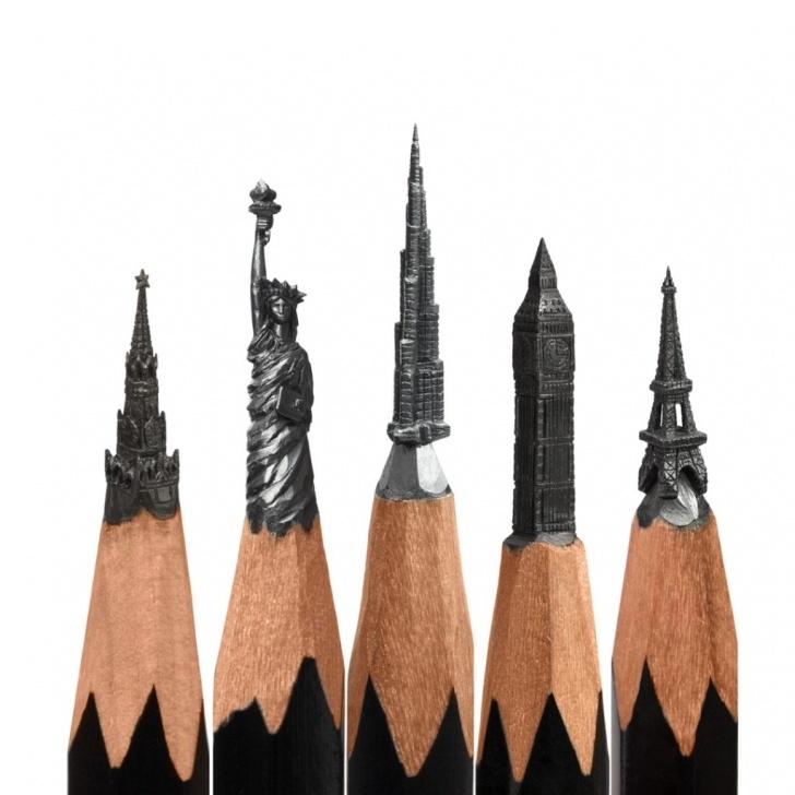 Popular Pencil Carving Artist Easy Salavat Fidal - Pencil Tip Carving | Micro Sculptures | Artsy Nature Image