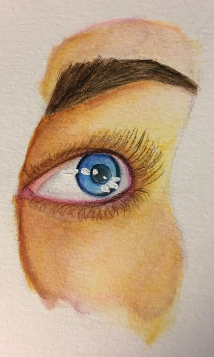 "Popular Pencil Crayon Art Courses Eye Study, Watercolour Pencil Crayon, 2X6"" : Art Images"