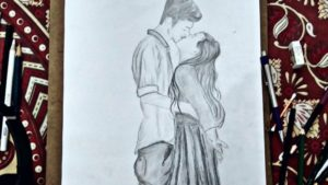 Popular Pencil Drawing Of Boy And Girl Simple Pencil Drawing Of Kissing |How To Draw Girl And Boy Kissing.lovely Couple  Kissing|You&art.#youandart Images