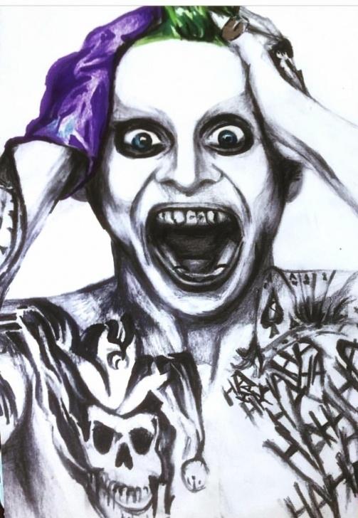 Popular Pencil Drawing Of Joker Step by Step My Pencil/colored Pencil Drawing Of Jared Leto As The Joker : Batman Images