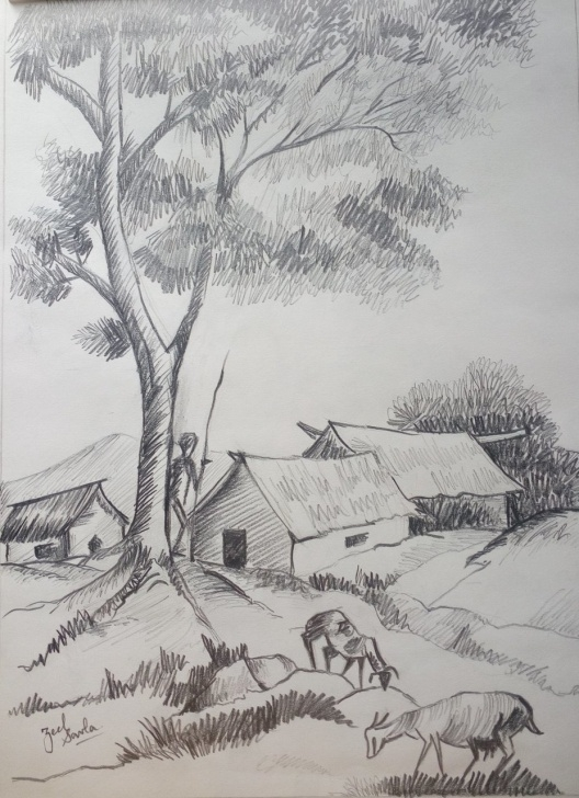 Popular Pencil Drawing Painting Easy Pencil Sketch Painting At Paintingvalley | Explore Collection Of Picture