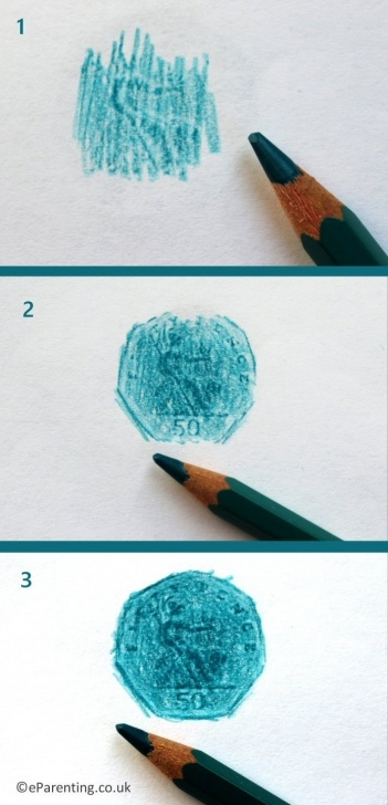 Popular Pencil Rubbing Art Step by Step Coin Rubbing Art Ideas For Children Photos