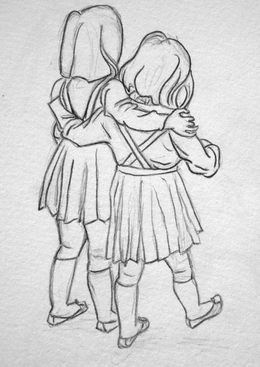 Popular Pencil Sketch Of Brother And Sister Courses Sisters; Pencil Sketch | Coloring Pages In 2019 | Pencil Drawings Picture
