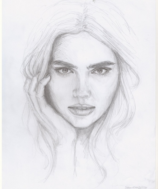 Popular Pencil Sketch Of Woman Face Free Pencil Sketch Face Drawing And Easy Pencil Sketches Of Face Pencil Images