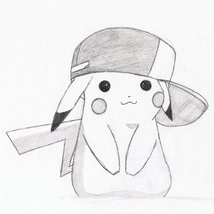 Popular Pikachu Pencil Drawing Easy Pikachu Pencil Sketch And Drawn Pikachu Hat Drawing - Pencil And In Image