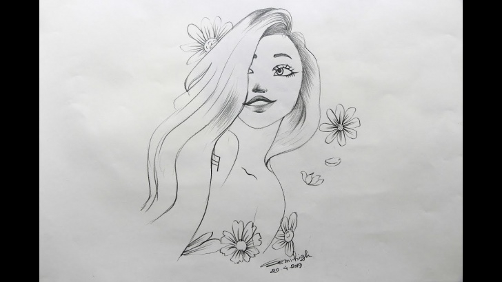 Popular Pretty Girls Sketch Pencil Drawings Tutorial How To Draw A Pretty Girl Step By Step | Pencil Sketch Images