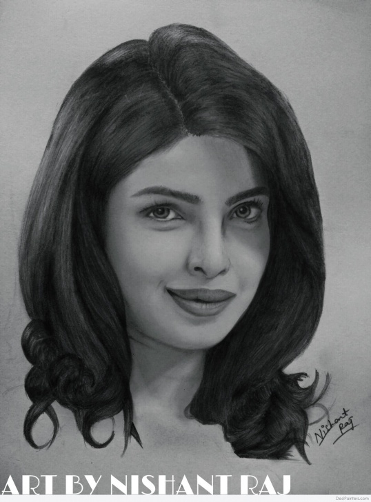Popular Priyanka Chopra Pencil Sketch Easy Pencil Sketch Of Priyanka Chopra | Desipainters Photo