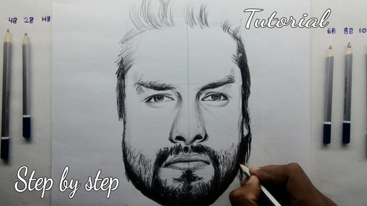 Popular Roman Reigns Pencil Drawing Techniques for Beginners How To Draw Roman Reigns Step By Step Tutorial For Beginners Images