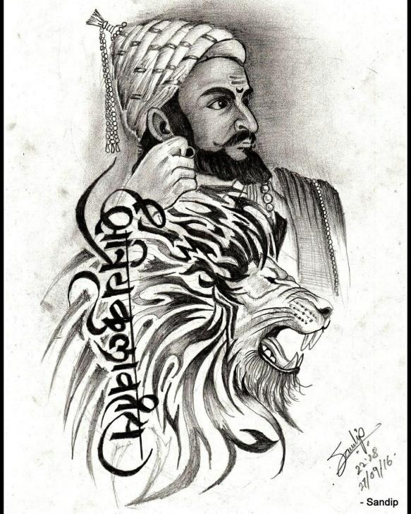 Popular Shivaji Pencil Sketch Techniques Shivaji Maharaj Drawing At Paintingvalley | Explore Collection Image