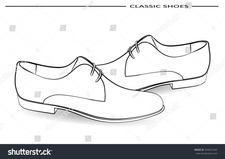 Popular Shoe Pencil Drawing Lessons Vector Classic Men Shoes Pencil Drawing Stock Vector (Royalty Free Picture
