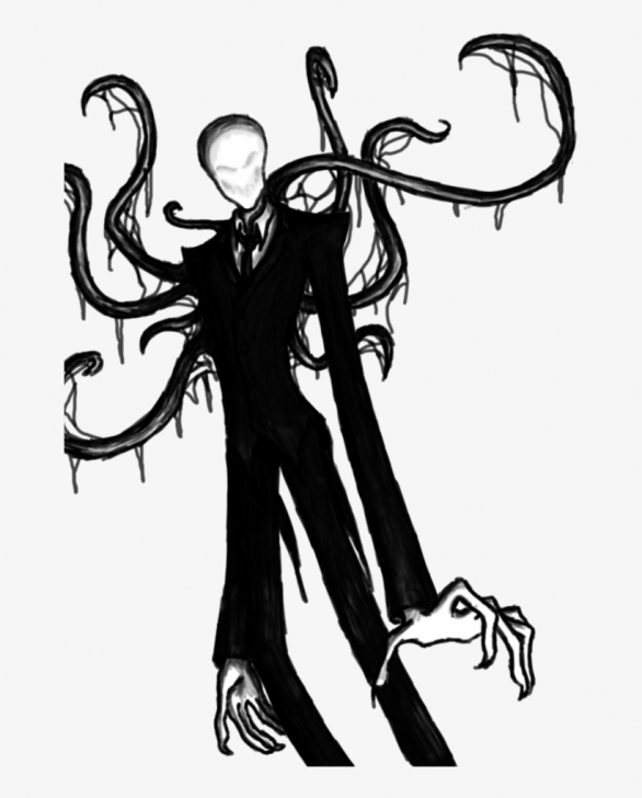 Popular Slender Man Drawings In Pencil Step by Step Pattsuserpage1 - Creepypasta Drawings Slender Man Png Image Photo